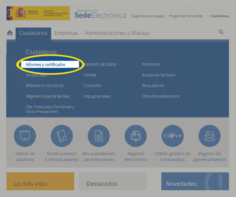 sede electronica ciudadanos informes y certificados